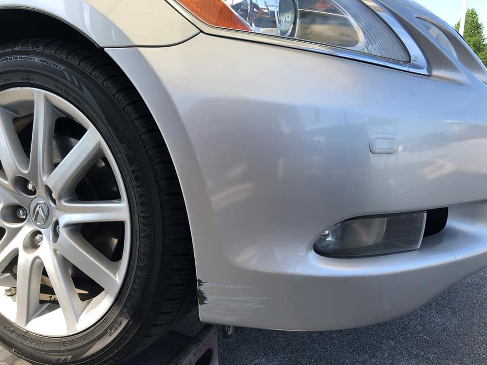 Silver Scratched Bumper